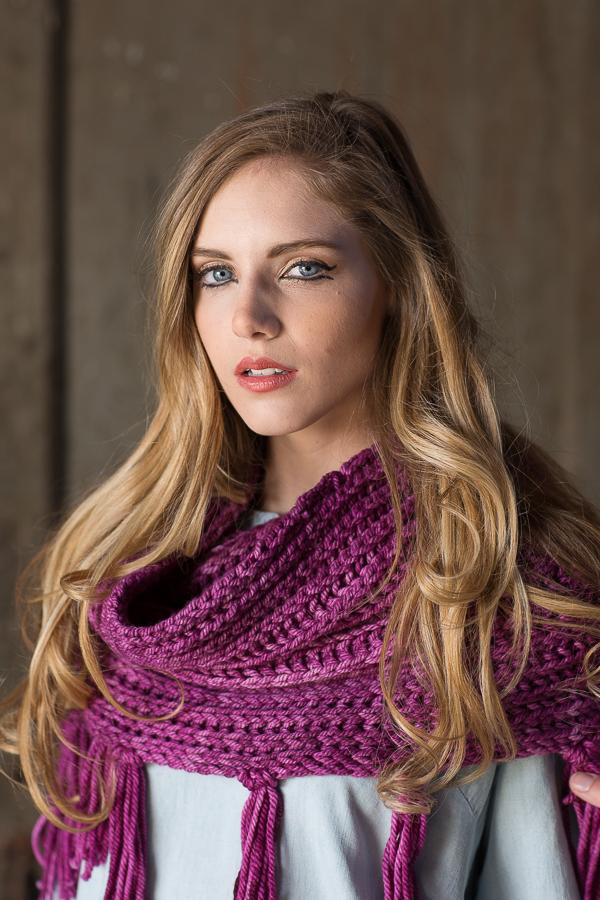 brioche stitch shawl
