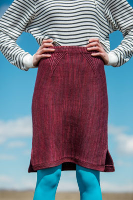 Aerial Skirt knitting pattern in knitscene Fall 2016