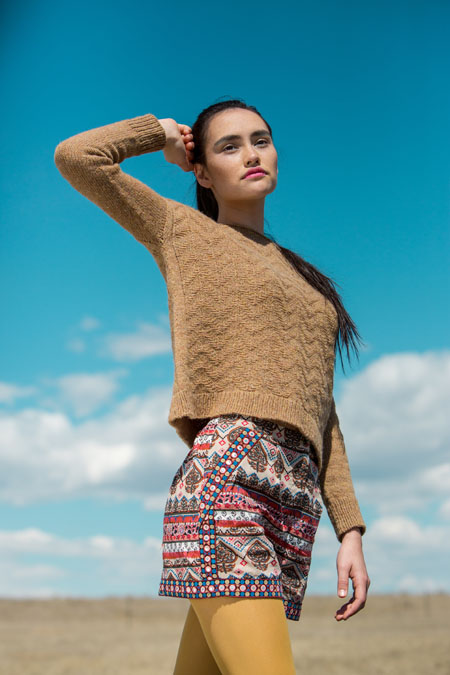 Troposphere Sweater knitting pattern in knitscene Fall 2016