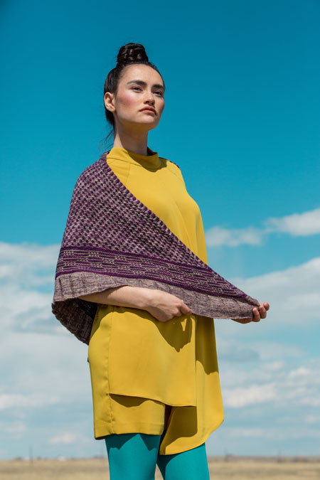 Noctilucent Shawl Knitting Pattern
