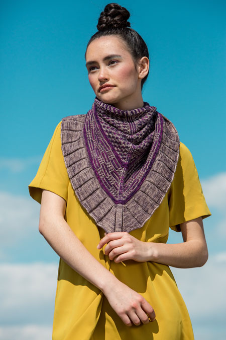Noctilucent Shawl knitting pattern on knitscene Fall 2016