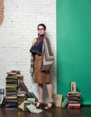 Parks Wrap Knitting Pattern in knitscene Fall 2016