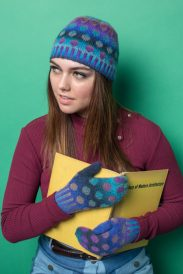 maya hat and mittens set from Knitscene Fall 2016