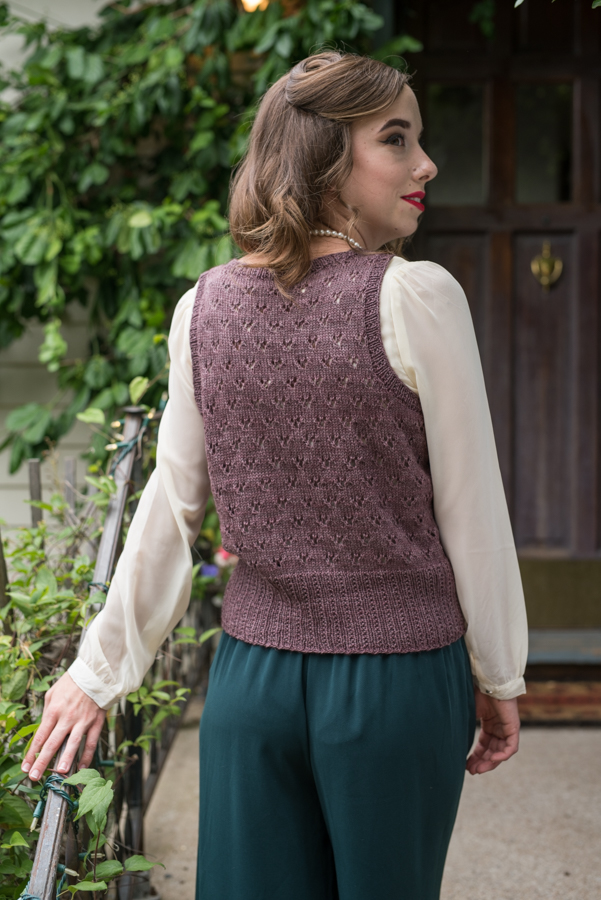 Wanda Knitted Vest Pattern Knitting Daily