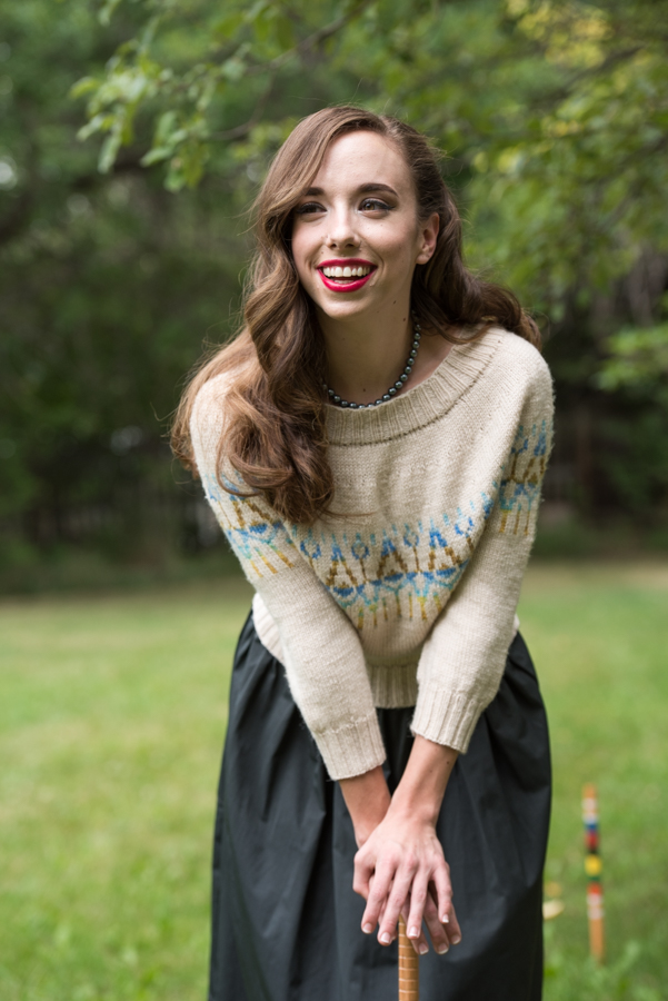This is one knitted sweater you never knew you needed that has a classic colorwork pattern and top-down circular yoke construction for effortless grace