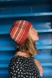 The Modern Tartan Slouch hat knitting pattern