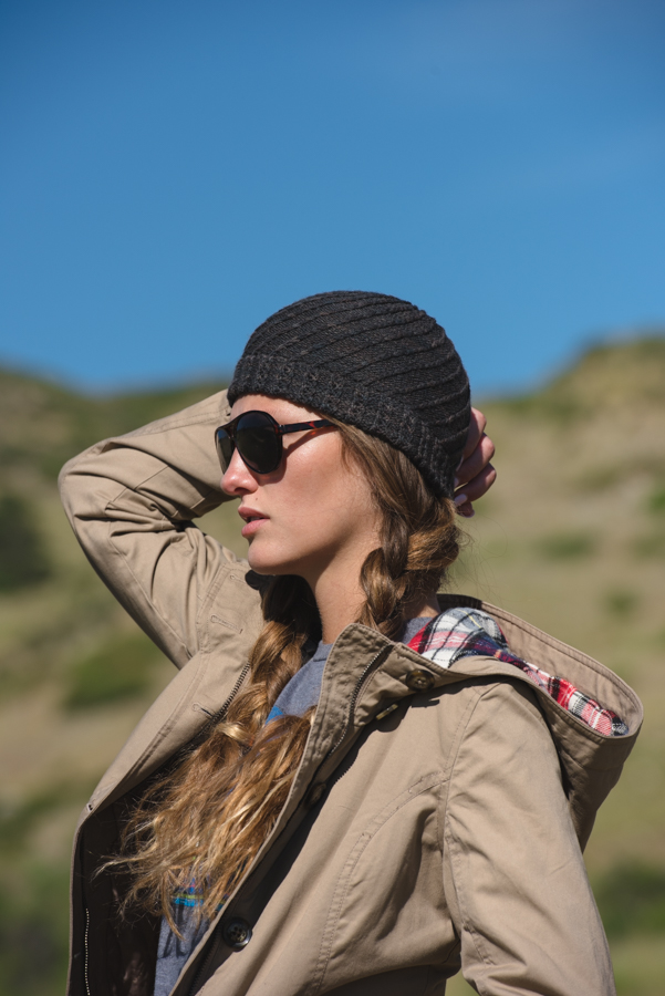 A double-thick brim will keep you warm with the beautifully spiraled Chachani Hat.