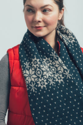 Snowflake Cowl knitting pattern by Jesie Ostermiller from knitscene Winter 2016