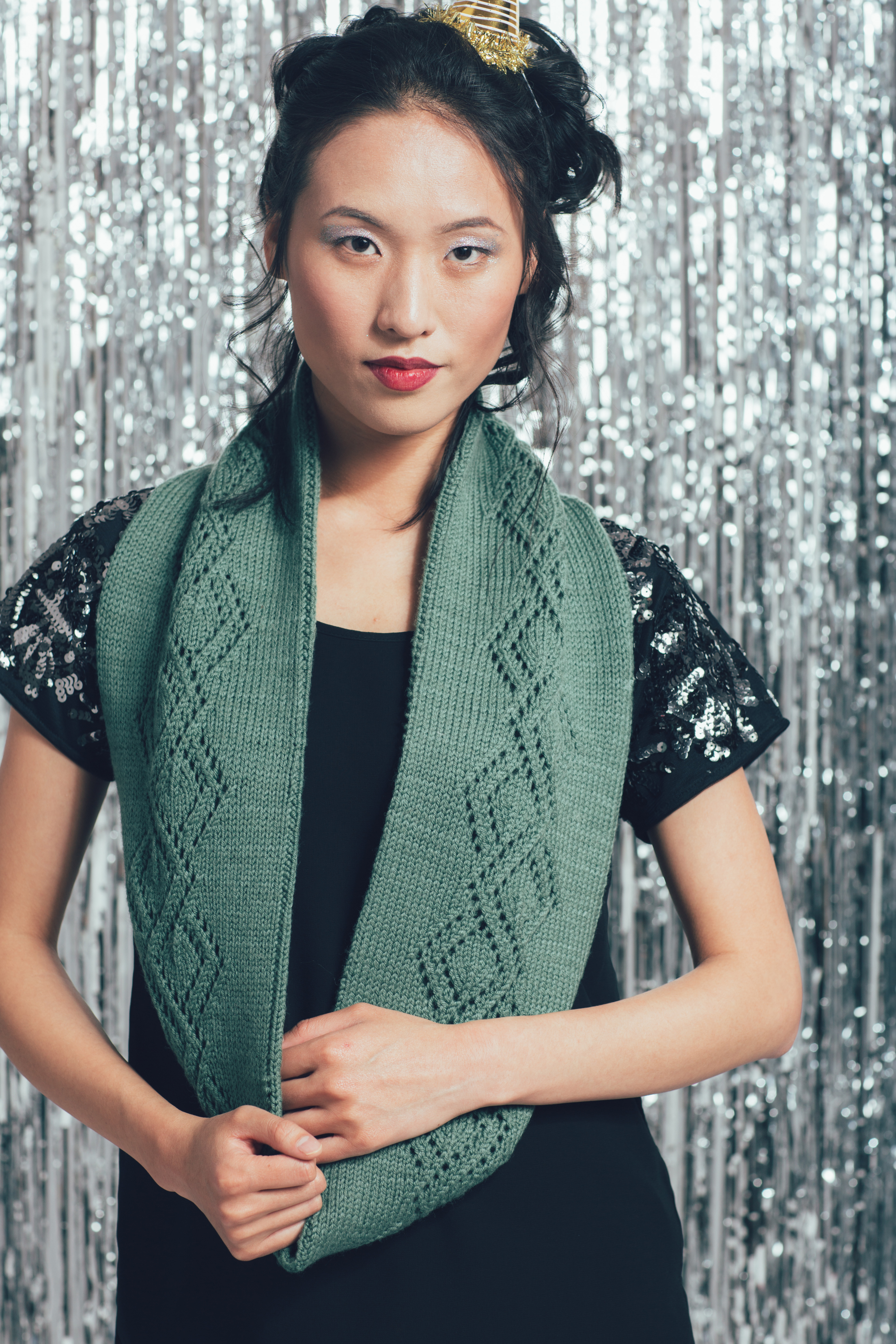 Spree Cowl knitting pattern by Andrea Rangel from knitscene Winter 2016