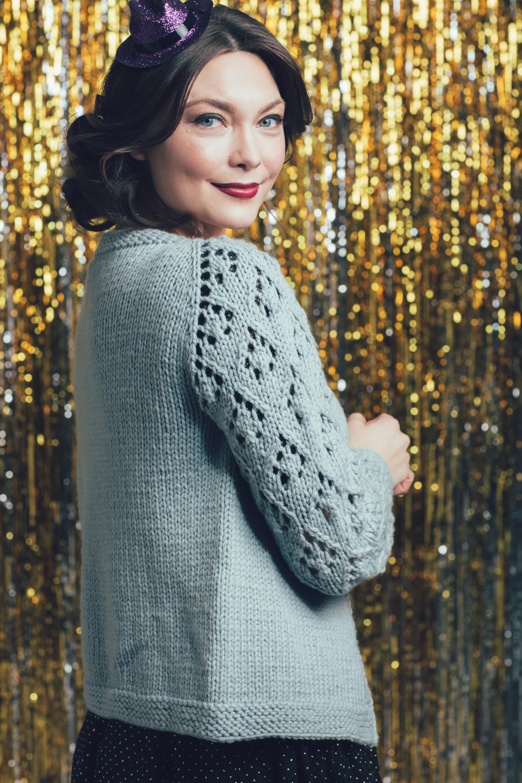 Blowout Cardigan knitting pattern by Kephren Pritchett from knitscene Winter 2016