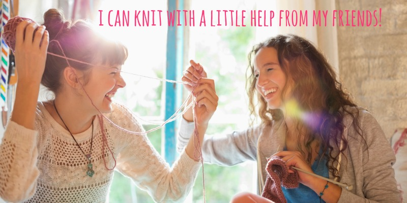 Knit 101: Slow Progress and a Little Help from My Friends