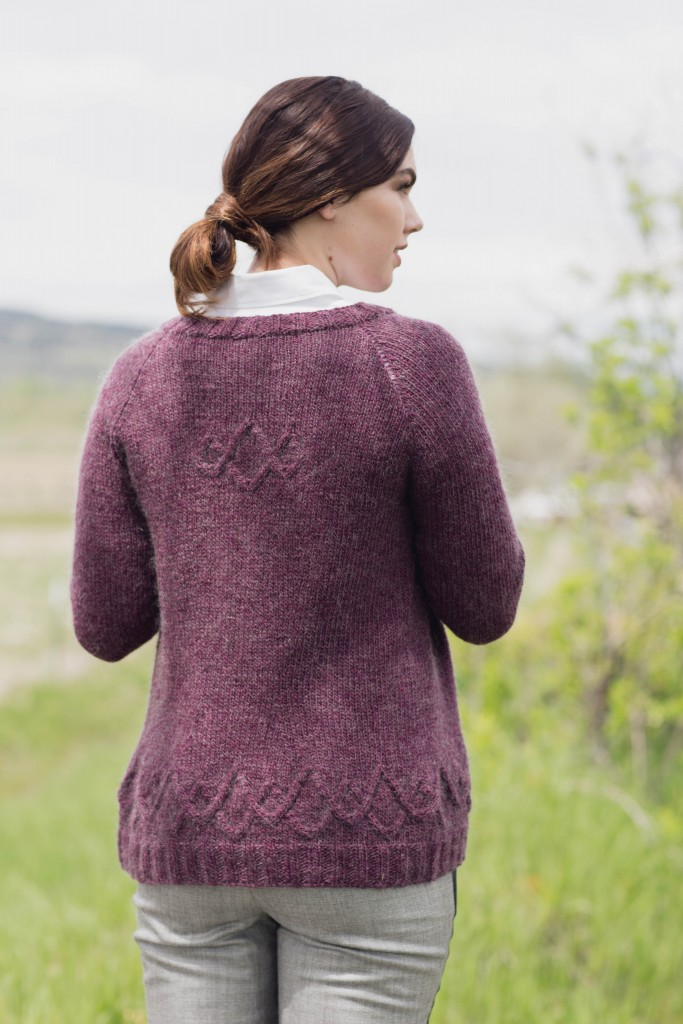 Searching for an easy knitting pattern? We have you covered with this Paddock knitted cardigan with a mohair halo, infinite cable motifs and more!