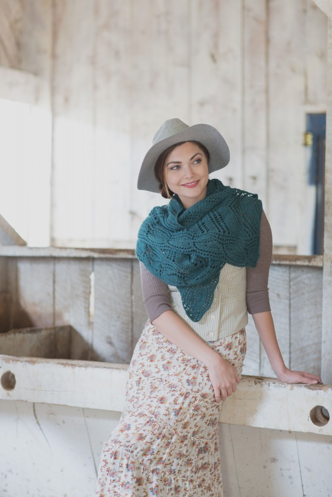 If you like short row knitting, then you'll LOVE the Galax Shawl knitting pattern that's wide and curved and can be styled like a scarf.