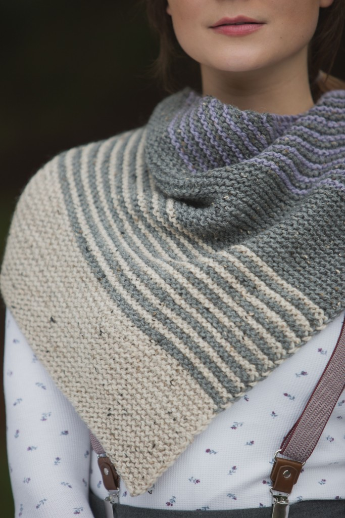 You'll become addicted to knitting this short-striping sequence with Homestead Knitted Shawl that is proven to de-stress you.