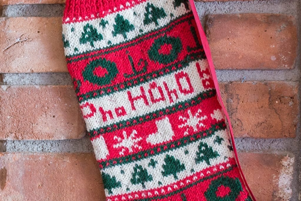 Ho! Ho! Ho! Christmas Stocking - Interweave