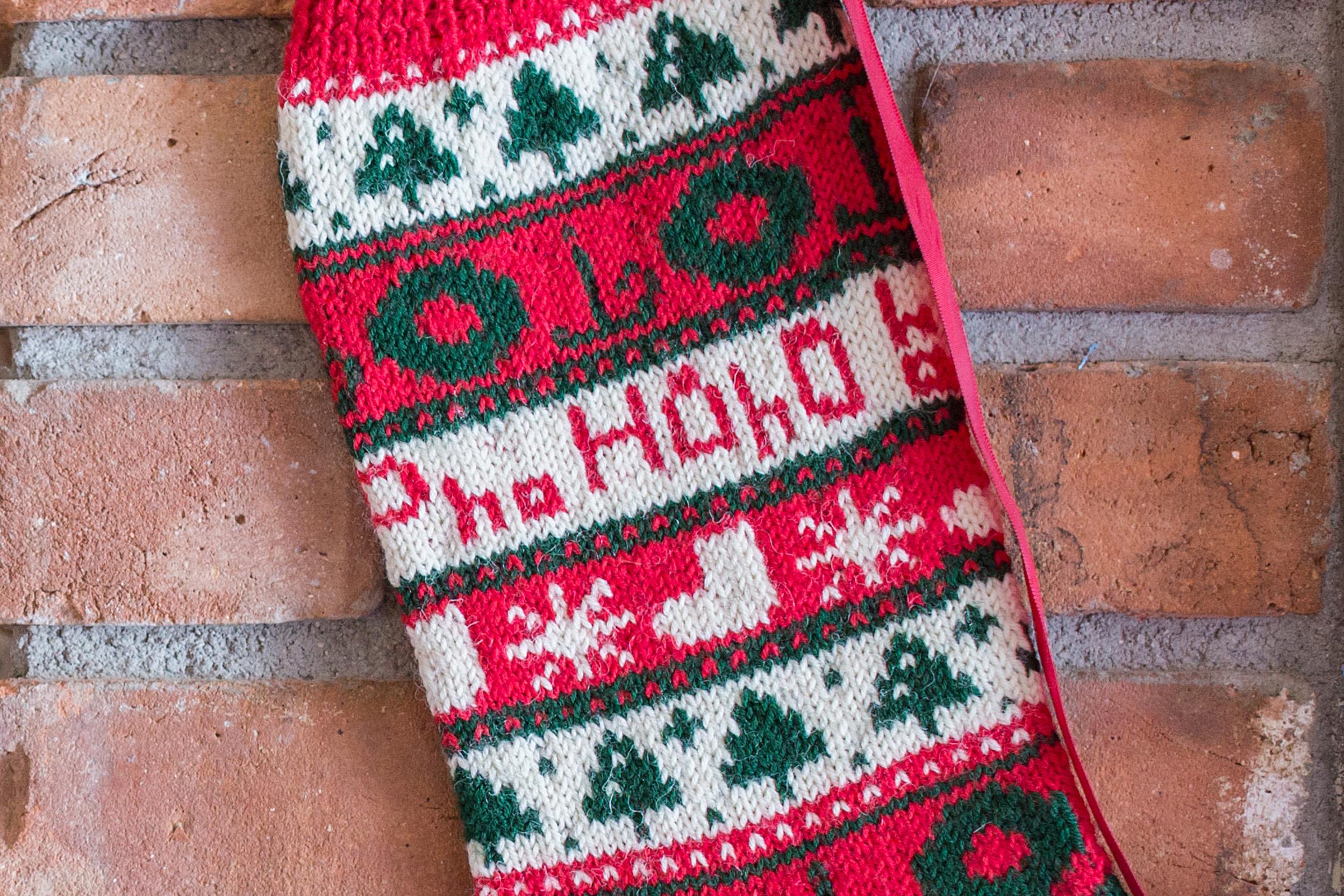 Ho! Ho! Ho! Christmas Stocking - Interweave
