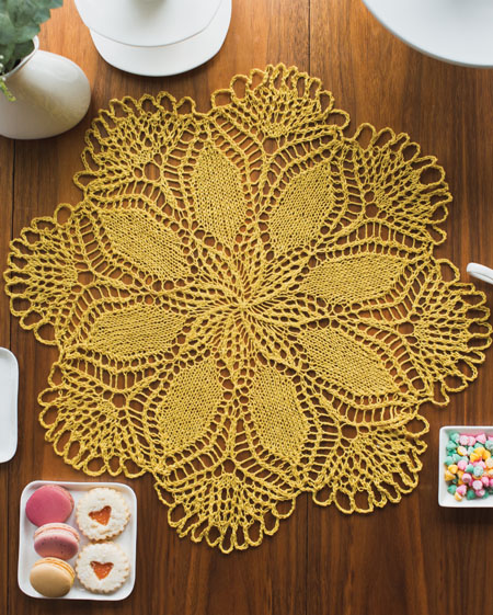 knit doily pattern