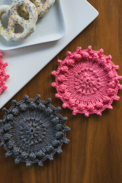 knit coaster set