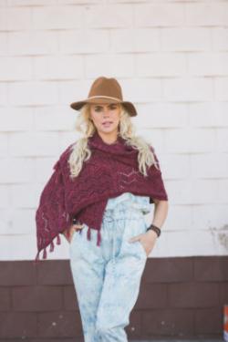 knit shawl pattern