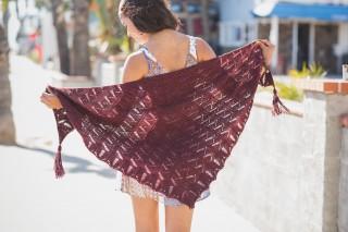 Cruz Shawl lace knitting pattern