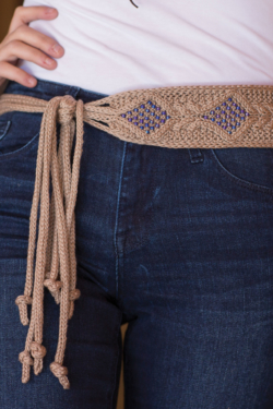 knit belt pattern