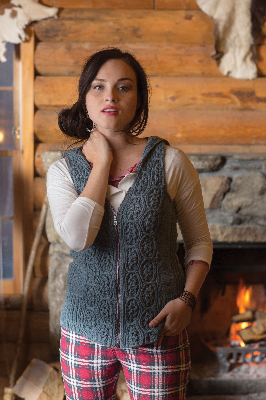 knit hooded vest pattern