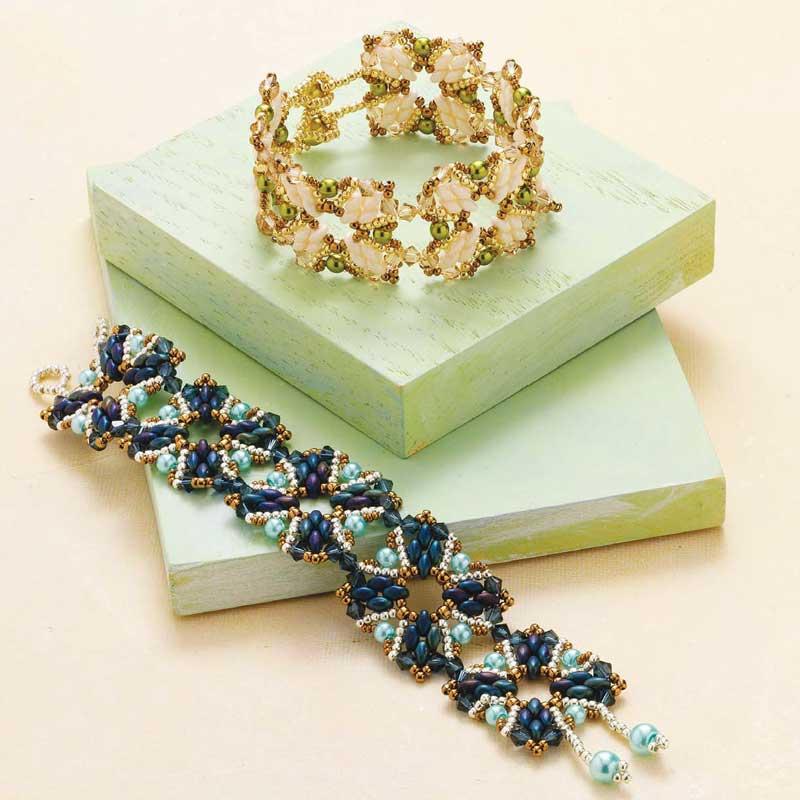Dayana Krawchuk's Version of Evelína Palmontová's Pinwheel Bracelet