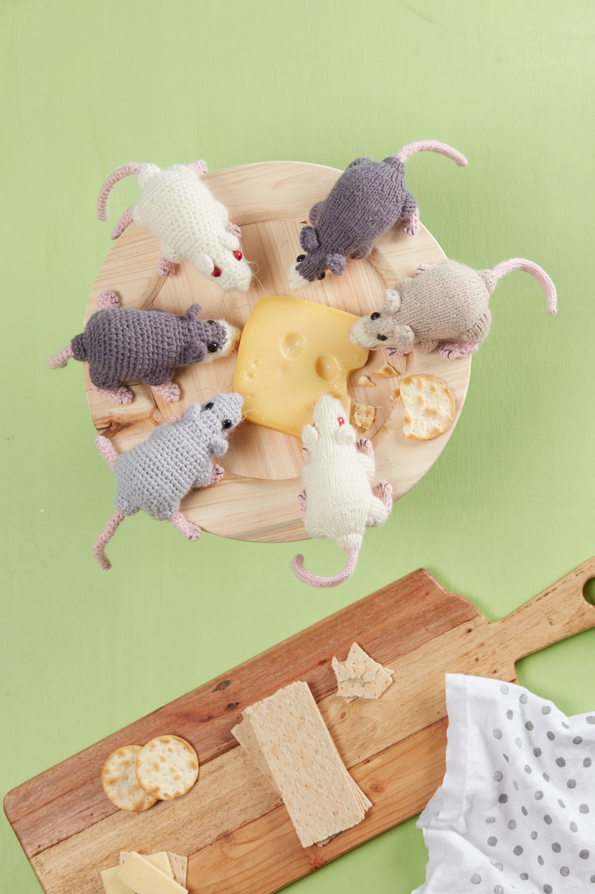 Rat–a–Cuties knitting pattern and crochet pattern from Love of Knitting Toys by Megan Kreiner