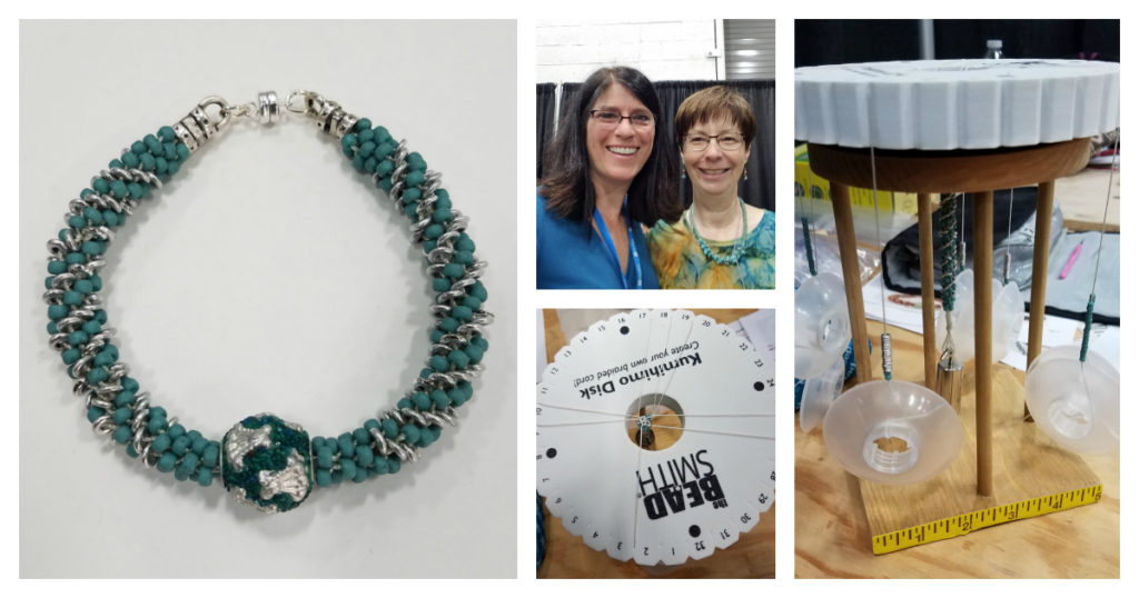 Learning Kumihimo at Bead Fest with Maggie Thompson