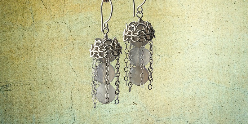 Roaring '20s Style Chain Maille Jewelry Making: Make Dancing Chains Earrings with Moonstones