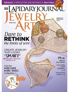 Lapidary Journal Jewelry Artist March 2016
