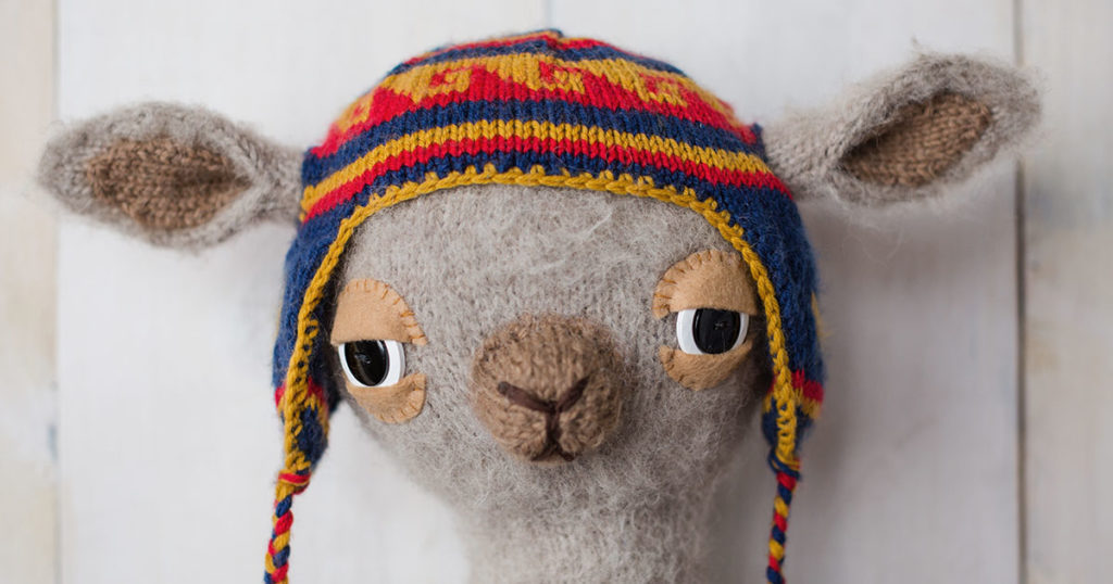 <em>Knits Gifts</em> 2018: Liam the Llama