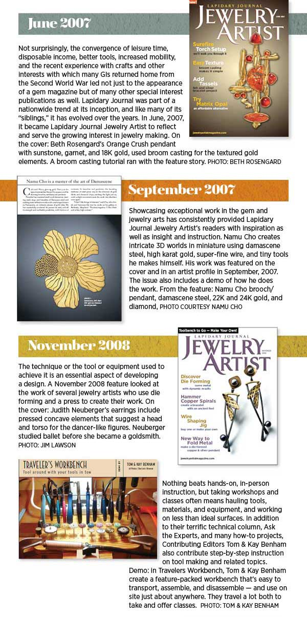 Lapidary Journal Jewelry Artist 70th Anniversary