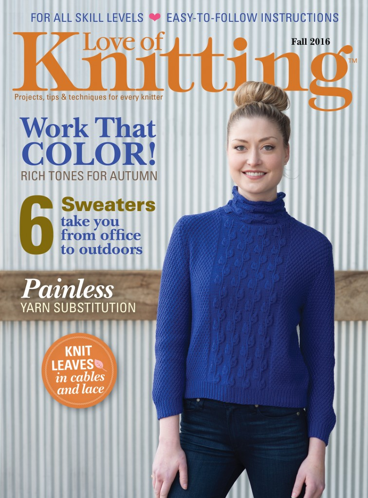 Our Fall issue of Love of Knitting will prepare you for your autumn knitting including knitted accessories and garments for everyone in the family!