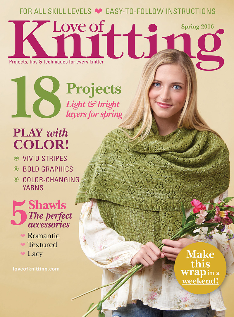 Love of Knitting Spring 2016 Magazine Cover