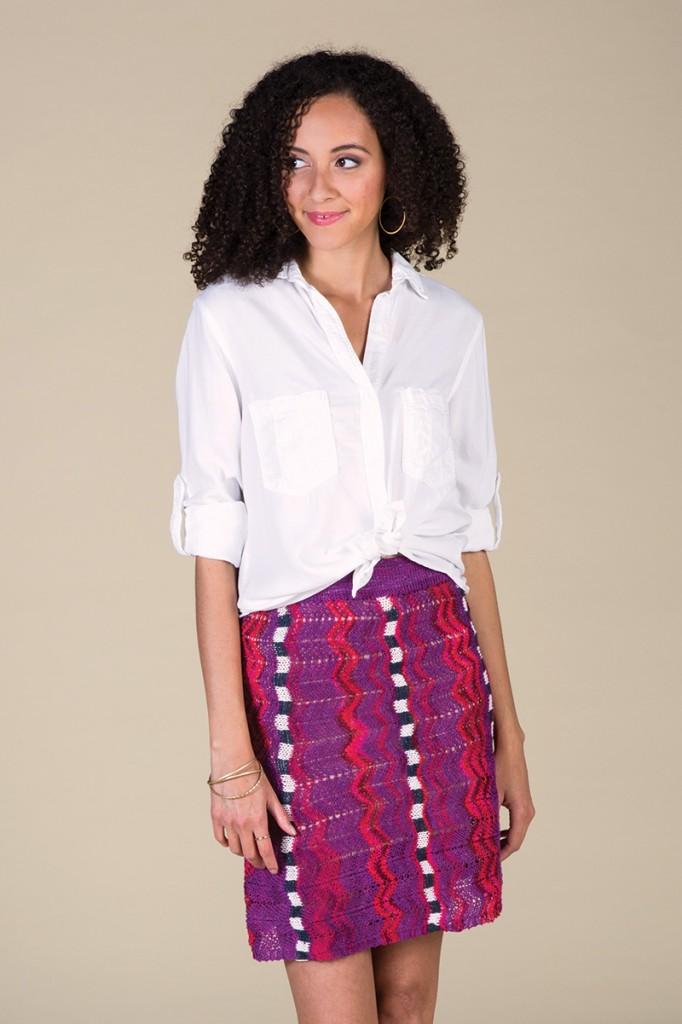 Bright Domino Skirt by Brigitte Reydams