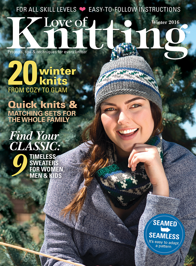 Love of Knitting Winter 2016 Cover
