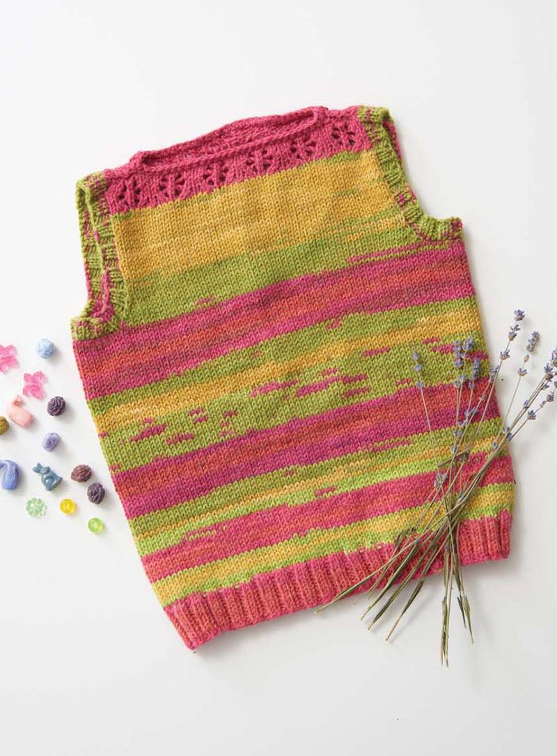 Flower Tank, Love of Knitting Spring 2016