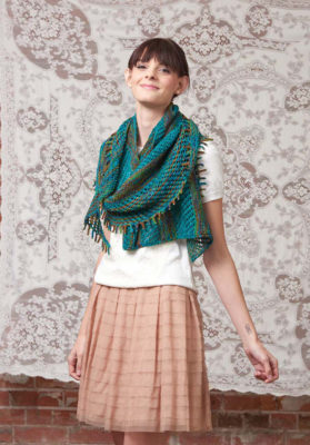 Linen & Lace Wrap knitting pattern by Molly Conroy from Love of Knitting Spring 2016