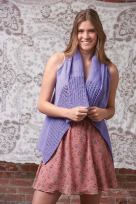 Spring Breeze Vest knitting pattern by Melissa Leapman from Love of Knitting Spring 2016