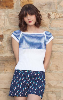 Sailor's Stripes Raglan knitting pattern by Kristen TenDyke from Love of Knitting Spring 2016