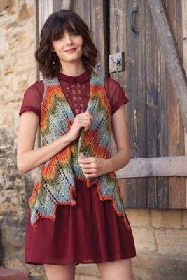Chevron Vest knitting pattern by Molly Conroy from Love of Knitting Spring 2016