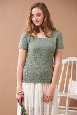 Tea Time Top knitting pattern by Kristen TenDyke from Love of Knitting Spring 2016