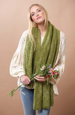 Springtime Lace Shawl knitting pattern by Melissa Leapman from Love of Knitting Spring 2016