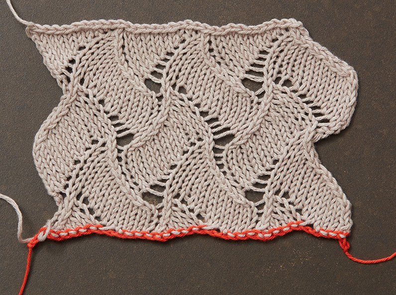 grafting two-sided lace