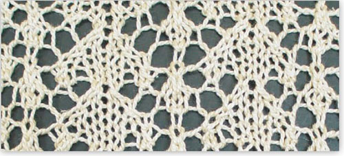 Learn how to follow a lace knitting chart!