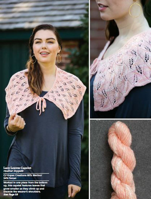 Lacy Leaves Capelet by Heather Zoppetti