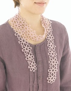 tatted lace scarf