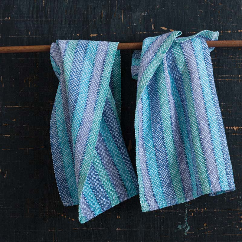 Jodi Ybarra's Down by the Lake Towels use 8/2 cotton doubled in the warp and weft.