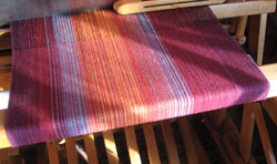 Sara Lamb weaving